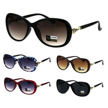 Womens Luxury 90s Oval Butterfly Rhinestone Ornament Hinge Sunglasses - $12.95