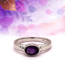 Lovely! 925 Sterling Silver 0.75 Ct African Amethyst Solitaire Stacking ... - $16.55