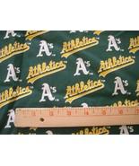 "OAKLAND ATHLETICS A's MLB COTTON FABRIC 1/4 YARD X 58"" for Mask FREE SHI... - $20.99"