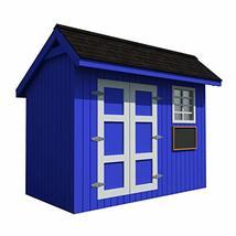 Playhouse Plans DIY Backyard Storage Shed Workshop Mini Kids Cottage Gue... - $14.95