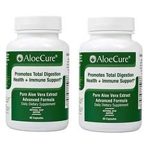AloeCure Advanced Formula - Twice a Day Aloe Vera Capsule, 2 Pack, 120 Capsules image 1