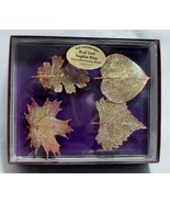 Real Leaf Collectibles Set of 4 Napkin Rings New in Box - $17.82