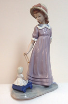 Lladro Girl With Doll in Wagon (5044) Retired 1998  - $120.00