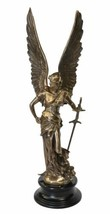 New Bronzed Greek Goddess of Victory Statue Sculpture Free Shipping 36.5... - $299.73