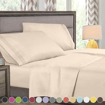Persian Collection 1800 Count Sheet set Fitted Flat 16 Deep Pocket Wrink... - $13.06+