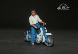 South Vietnam Saigon Civilian man /w Honda Cub Vietnam war 1:35 Pro Buil... - $163.35