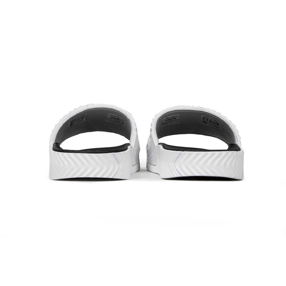 uk availability 2983c 6ac86 Adidas Adilette Slide x Alexander Wang (White Black White) Men 5-