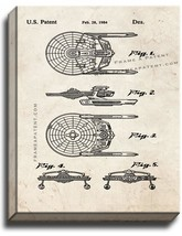 Star Trek USS Reliant Patent Print Old Look on Canvas - $39.95+