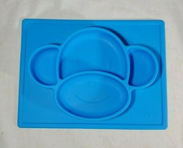 Baby Feeding - Nuby - Sure Grip Silicone Placemat Monkey Blue 80251 - $13.85