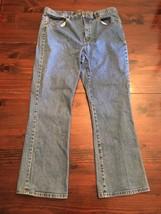 LRL Lauren Raulph Lauren Jeans, size 16 wide boot cut light wash - $14.03