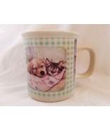 Puppy Kitten Cat Dog Mug Debbie Cook Prurple Planters Sleeping Quilt - $9.48