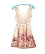 Lauren Conrad Womens Dress Pink Floral Size 12 Spaghetti Strap Elastic W... - $34.60
