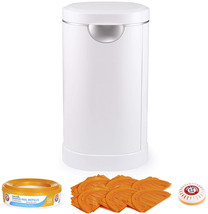 Munchkin Diaper Pail Starter Set, Powered by Arm and Hammer, 1 Month Ref... - $97.23