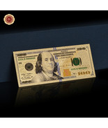WR Latest Gold US Note $100 One Hundred Dollars 24K Gold Banknote Collec... - $3.00