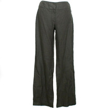 EILEEN FISHER Cinder Gray Heavy Linen Wide Trouser Pants 2 - $99.99