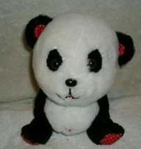 "7"" VINTAGE FINE STUFFED TOYS PANDA TEDDY BEAR CIRCUS ANIMAL PLUSH TOY - $18.50"