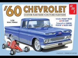 AMT 1:25 Scale 1960 Chevy Custom Fleetside Pickup w/ Go-Kart - 1063 - $36.30
