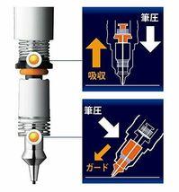 Zebra Mechanical Pencil Delguard 0.7mm, White Body (P-MAB85-W) image 8