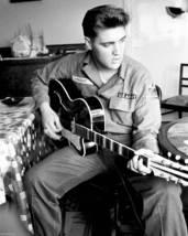 Elvis Presley Army TSCO Vintage 16X20 BW Music Memorabilia Photo - $29.95