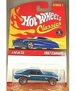 2004 Hot Wheels Classics Series 1 14/25 1967 CAMARO Blue w/Red Line 7 Sp... - $17.00