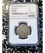 (1623) Alemán Estados Baviera 1/6 Thaler de Plata ! NGC Au58 #G996 Madon... - $604.09