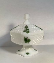 Consolidated glass Wedding box, Footed candy Jar, Con Cora line - $49.95