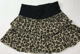 Crazy 8 Sz 5-6  Ruffle Skirt Leopard Cat Animal Print - $19.79