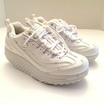 Skechers Shape Ups Womens Size 8 White Silver # 11800/WSL Metabolize Sneakers - $99.99