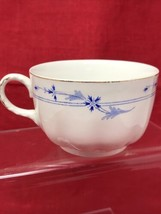 Johnson Brothers Blue Leaf Scalloped w/ Bands Gold Trim England - Cup - $14.84