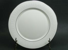 "2 Lenox Courtyard Platinum 11"" Dinner Plates Pristine Condition - $38.61"