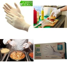 Green Direct Latex Rubber Gloves Powder Free / Disposable Food Prep Cook... - $19.09