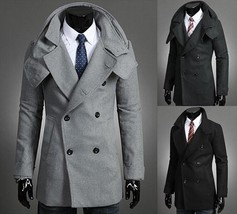 TOP Quality US Size Hot Sell 2018 Autumn and winter men's detachable col... - $51.30