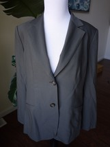 vtg Talbots green size 10 two button single breast wool jacket made in J... - $9.99
