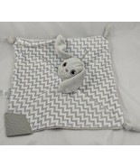 BooginHead Gray Rabbit Lovey Bunny Security Blanket Pacifier Stuffed Ani... - $9.95