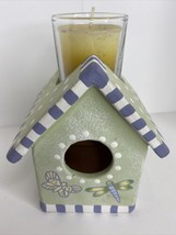 Birdhouse Votive Candle Lady Jane Ltd Antique Garden Terra Cotta #8751 L... - $24.70
