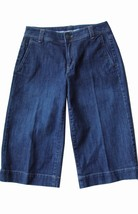 LANDS' END Jean Capri Cropped Mid-Rise Straight Leg Stretch Medium Wash ... - $9.90