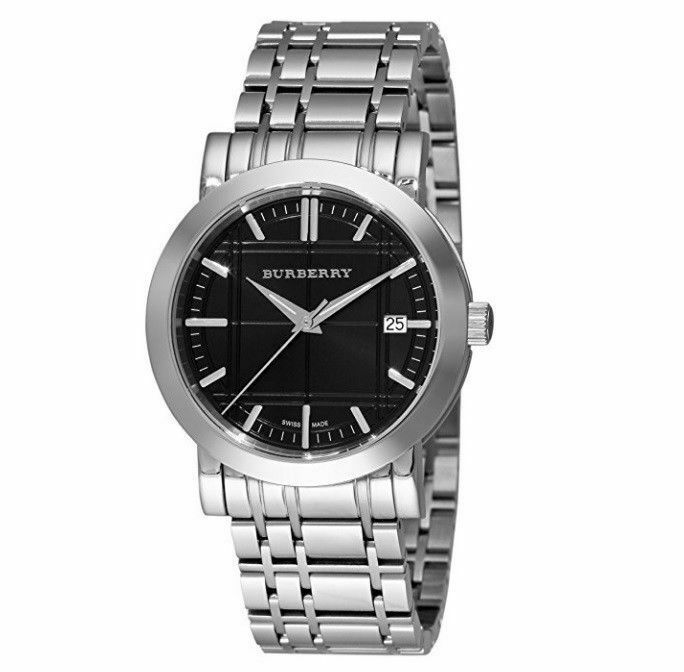Burberry BU1364 Heritage Black Dial Swiss Made Mens Watch