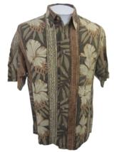 "Van Heusen vintage Men Hawaiian ALOHA shirt pit to pit 23"" sz M floral c... - $24.74"