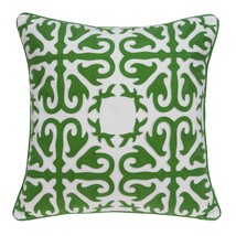 """20"""" x 0.5"""" x 20"""" Transitional Green and White Accent Cotton Pillow Cover - £43.46 GBP"""