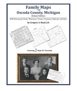Family Maps of Oscoda County, Michigan - $31.45