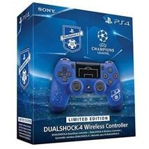 Limited Edition Sony Dualshock 4 V2 UEFA F.C Soccer Edition Blue Control... - $78.39