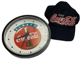 """Vintage 1995 Coca-Cola Wall Clock """"Always COCA-COLA"""" 10 Inch Free Snap Back - $34.65"""