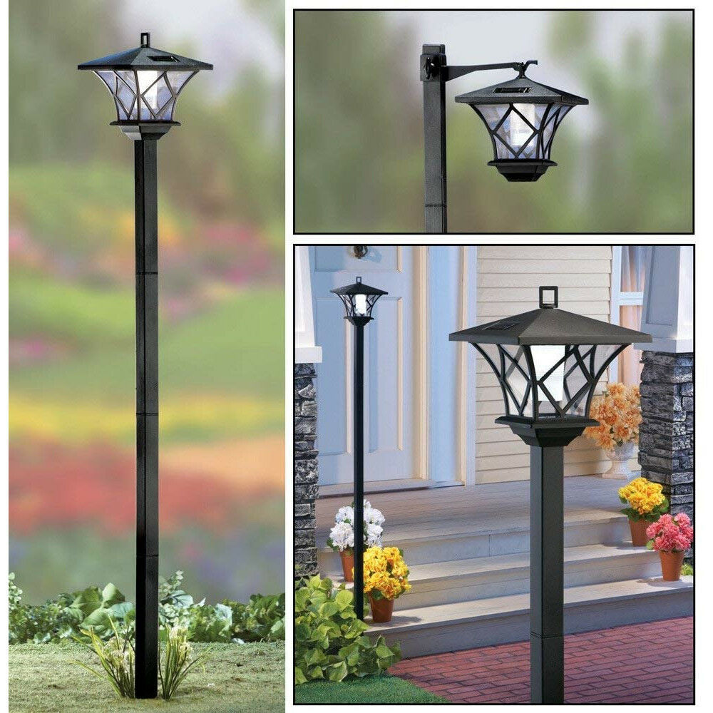 NEW! SOLAR STREET LED LAMP POST - 2 MOUNTS - 5' TALL! SET AT MULTIPLE HEIGHTS - $26.68