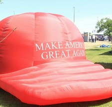 Genuine Donald Trump Inflatable Blow Up Sign Red Hat 2016 Campaign Original - $19,999.00