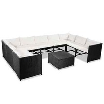 vidaXL Garden Sofa Set 30 Pieces Poly Rattan Wicker Outdoor Lounge Furniture - $486.99