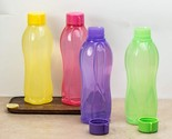 Tupperware Aquasafe Plastic Bottle, 1000ml, Set of 4, Pink, Green, Yellow, Purpl - £15.01 GBP