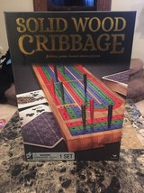 Solid Wood Cribbage Board game - $16.00