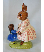 Royal Doulton Dollie Bunnykins Playtime Blue Dress Signed Mickael Doulton - $59.29