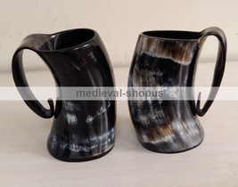 New Viking Drinking Tankard Medieval Cup Renaissance Horn Beer Wine Ale ... - $42.08