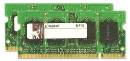 Kingston Value Ram 4 Gb Kit (2x2 Gb Modules) 800MHz PC2-6400 DDR2 Sodimm Notebook - $69.30